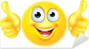 Pixerstick Sticker Duimen omhoog emoticon emoji