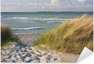 Pixerstick Sticker Duinen op het strand van de Baltische Zee in Heiligenhafen