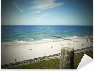 Pixerstick Sticker Dune bescherming - beschermd gebied - Zeeland, Nederland
