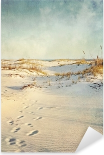 Sticker Pixerstick Dunes de sable au coucher du soleil Image texturée