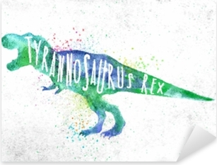 Sticker Pixerstick Dynosaure Tyranosaure Vivid