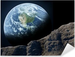 Earth seen from the moon. Pixerstick Sticker
