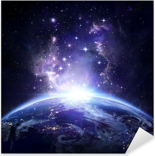 Earth view from space at night - USA Pixerstick Sticker