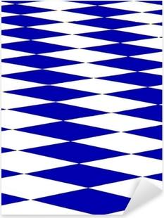 échiquier bleu Pixerstick Sticker