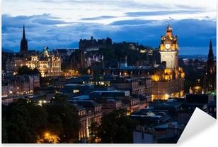 Edinburgh Cityscape Pixerstick Sticker