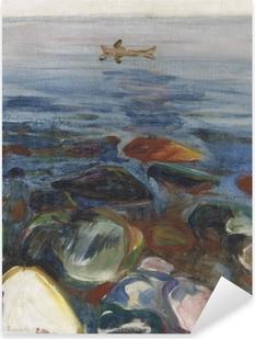Pixerstick Sticker Edvard Munch - Roeiboot op zee