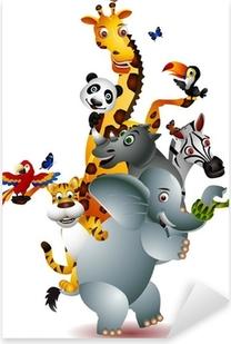 Pixerstick Sticker Een verscheidenheid van schattige dieren