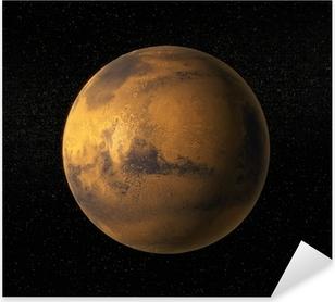 Pixerstick Sticker Een weergave van de planeet Mars