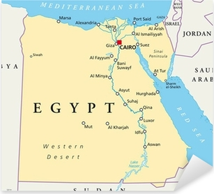 Ancient Egypt Map Altes Agypten Landkarte Sticker Pixers We