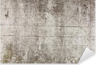 Eine graue Mauer aus Beton für Hintergrund Pixerstick Sticker