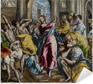 El Greco - Cleaning of the Temple Pixerstick Sticker