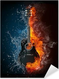 Electric Guitar Pixerstick Sticker