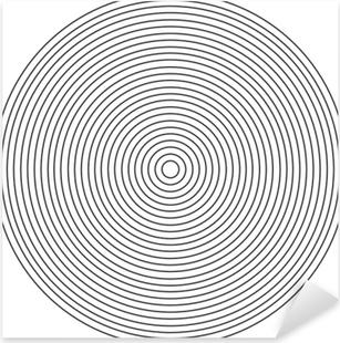 Sticker Pixerstick Élément de cercle concentrique sur fond blanc