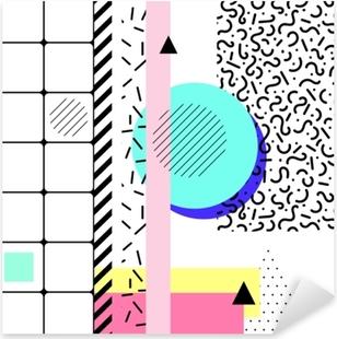 Sticker Pixerstick éléments géométriques memphis