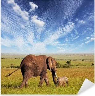 Elephant Pixerstick Sticker