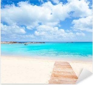 Els Pujols Formentera white sand turquoise beach Pixerstick Sticker