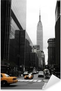 Emipre State Building and yellow, Manhattan, New York Pixerstick Sticker