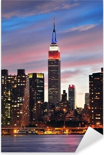 Empire State Building at night Pixerstick Sticker