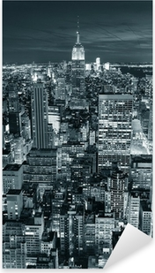 Sticker Pixerstick Empire State Building gros plan