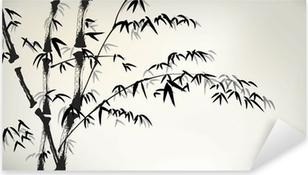 Sticker Pixerstick Encre bambou peints