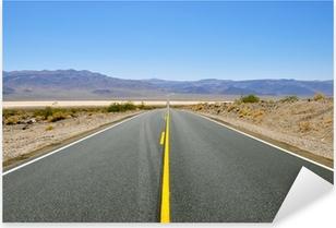 Pixerstick Sticker Endless Highway, Death Valley National Park, Californië, USA.