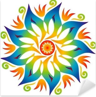 Pixerstick Sticker Energie Mandala kleuren van de regenboog