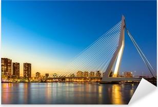 Erasmus bridge Rotterdam Pixerstick Sticker