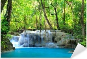 Erawan Waterfall, Kanchanaburi, Thailand Pixerstick Sticker