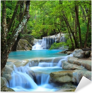 Sticker Pixerstick Erawan Waterfall, Kanchanaburi, Thaïlande