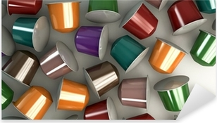 Pixerstick Sticker Espresso Koffie Capsules