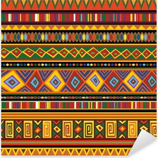 Ethnic Colorful Pattern Africa Art-Etnico Colori Arte Africa Pixerstick Sticker