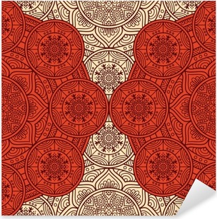 Ethnic floral seamless pattern Pixerstick Sticker