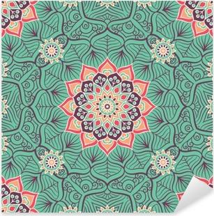 Sticker Pixerstick Ethnic seamless floral