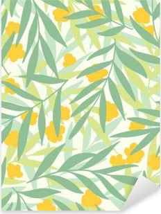 Exotic leaves, rainforest. Pixerstick Sticker