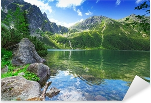 Eye of the Sea lake in Tatra mountains, Poland Pixerstick Sticker