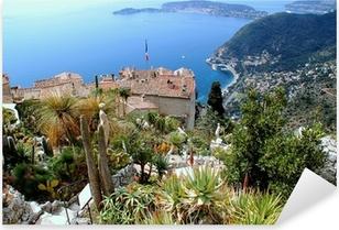 Pixerstick Sticker Eze, bekende toeristische plaats aan de Franse Riviera