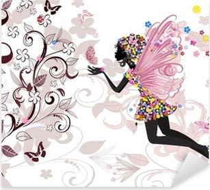 fairy pattern Pixerstick Sticker