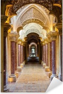 Fairytale corridor of Monserrate Palace in Sintra town, Portugal Pixerstick Sticker