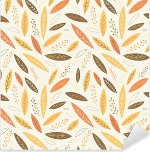 Falling autumn leaves seamless pattern Pixerstick Sticker