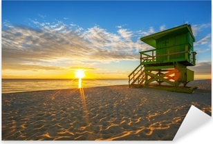 Famous Miami South Beach sunrise Pixerstick Sticker