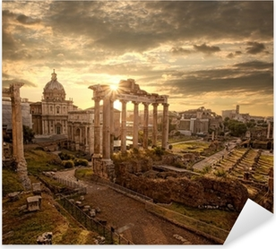 Famous Roman ruins in Rome, Capital city of Italy Pixerstick Sticker