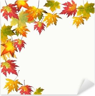 Farben des Herbstes: Bunte Ahorn-Blätter Pixerstick Sticker