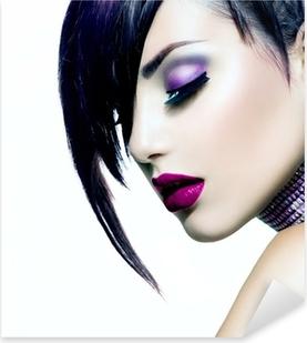 Sticker Pixerstick Fashion Beauty Girl. Portrait de femme magnifique