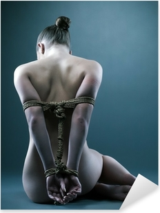 Sticker Pixerstick Femme nue avec shibari en studio