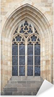 Sticker Pixerstick Fenêtre gothique