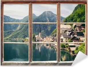 Pixerstick Sticker Fensterblick Hallstatt