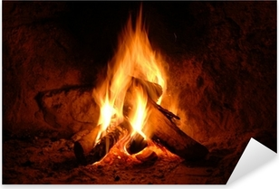 Feuer, Kaminfeuer, Flammen, Pixerstick Sticker