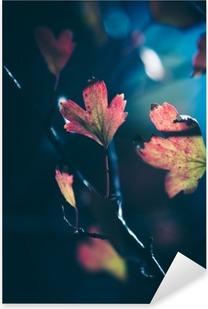 Sticker Pixerstick Feuilles d'automne dans la lumière du soleil