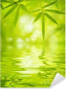 Sticker Pixerstick Feuilles de bambou