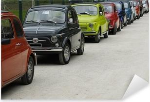 Sticker Pixerstick Fiat 500 rallye
